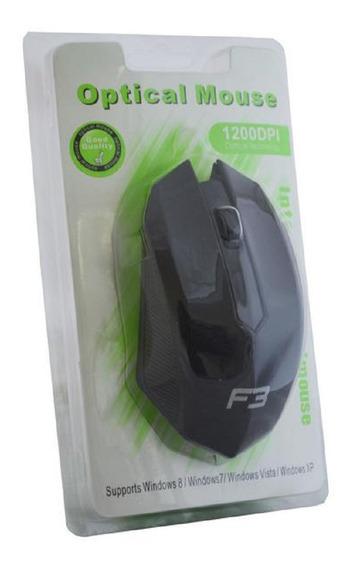 Mouse Usb Óptico 1200dpi Preto M2 Com Fio