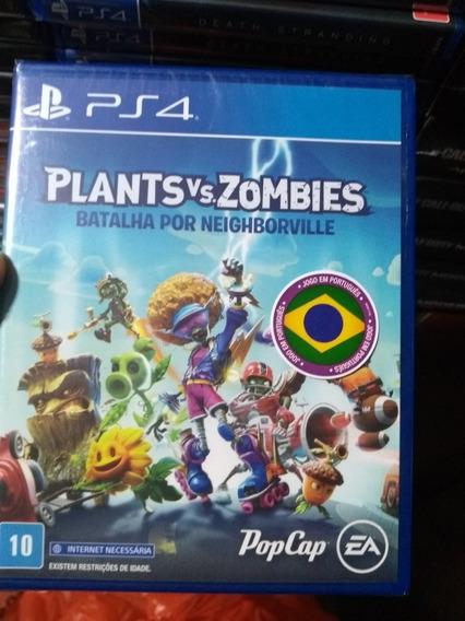Plants Vs Zombies 3 Ps4 Mídia Física Lacrado Em Português