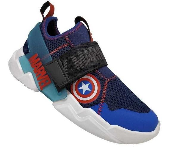 Tenis Infantil Menino Marvel Mania Capitao America Avengers
