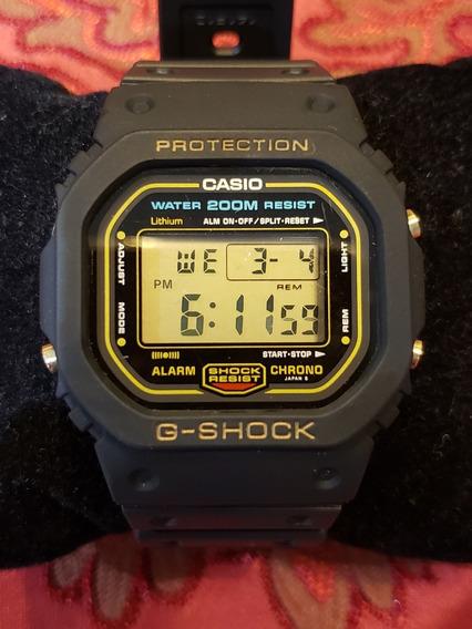 Casio G-shock Dw-5600 Ouro Anos 80 Fundo Rosca Perfeito!!!