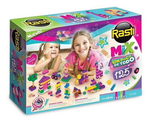 Rasti Mix Nenas 125 Piezas Bloques Ladrillos Rosas Full