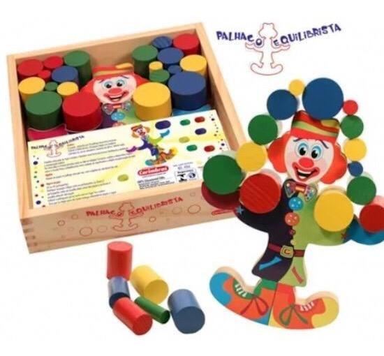 Jogo Palhaço Equilibrista Brinquedo Educativo À Vista