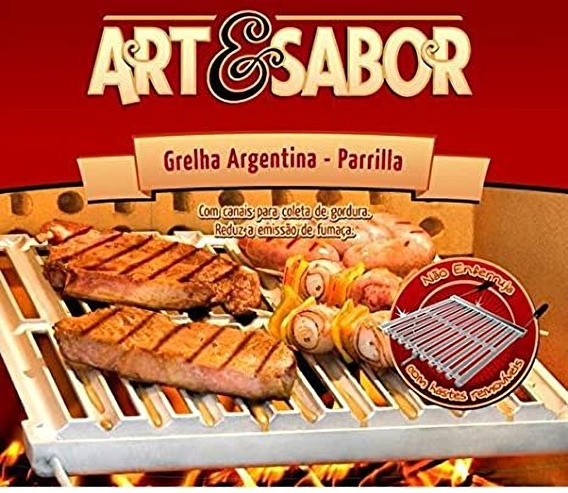 Grelha Barrilha Argentina Art & Sabor 47x42x4cm Oferta