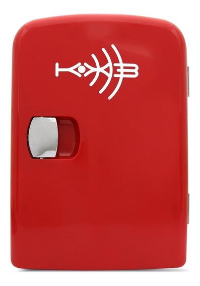Mini Geladeira Portátil Vermelha Kx3 4,5l Automotiva Retrô