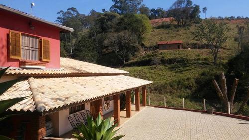 Chácara Com Escritura, Lago, 03 Dormitórios À Venda, 4000 M² Por R$ 650.000 - Rural - Socorro/sp - Ch0104