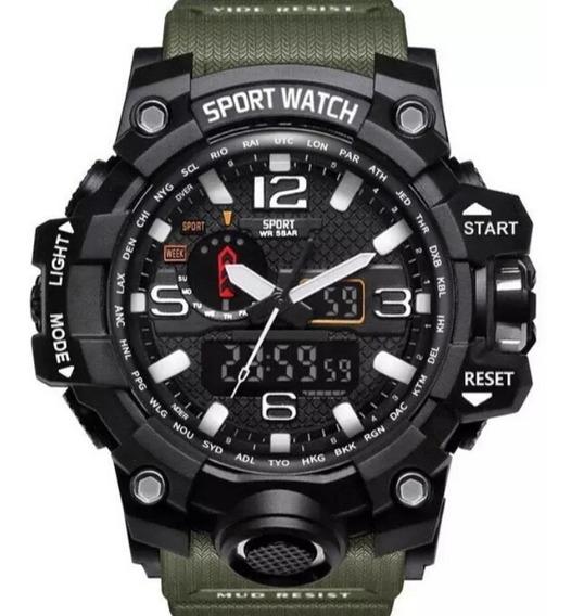 Relógio Militar Original Led Estilo Skmei A Prova D