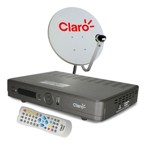 Receptor Claro Tv Pre Pago + Antena + Habilitação + Recarga