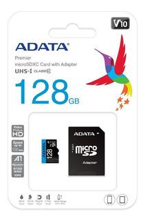 Memoria Micro Sd 128gb Adata Clase10 Al Por Mayor