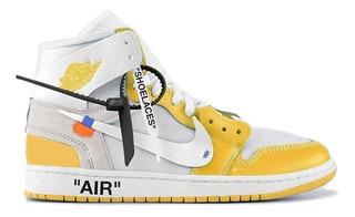 Tenis Air Jordan 1 X Off-white Nrg White/dk Powder Yellow
