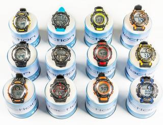 Reloj Digital Daction Niños Deportivo Sumergible Kit X 12