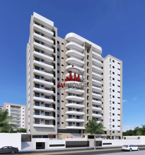 Apartamento 2 Dormitórios Frente Mar Na Vila Mirim Praia Grande - Ap02602 - 69232038