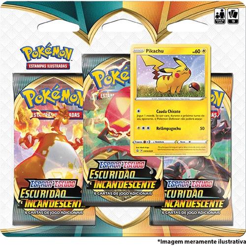 Card Game Pokémon Blister Escuridão Incandescente Pikachu