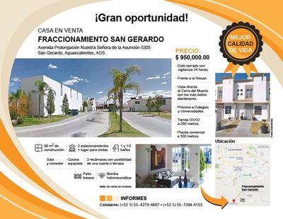 Venta De Casa De 3 Recamaras En Fraccionamiento San Gerardo