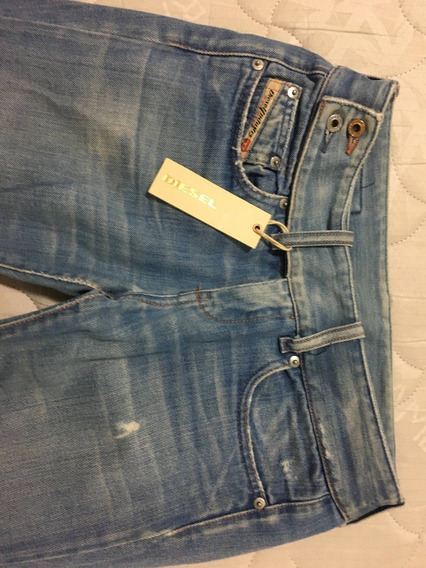 Calça Jeans Feminina Diesel Azul Clara