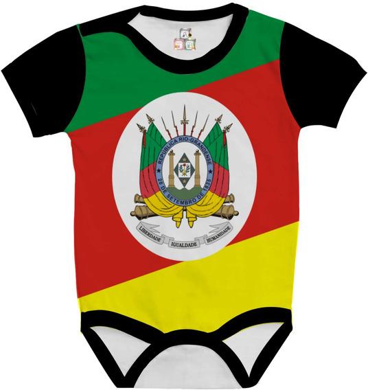 Body Bebê Personalizada Bandeira Rio Grande Do Sul
