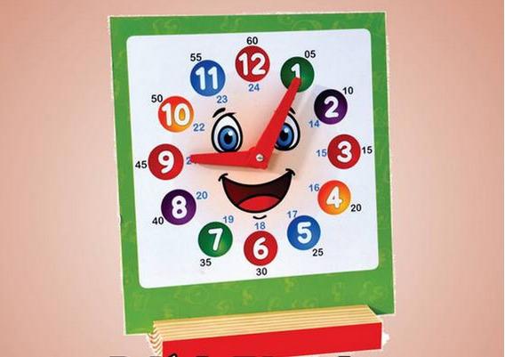 Relógio Educativo - Brinquedo Pedagógico De Madeira