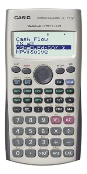 Calculadora Financeira Casio Digital Fc-100v - Cinza
