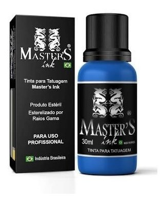 Tinta Azul Medio Master Ink 30ml Tattoo Tatuagem