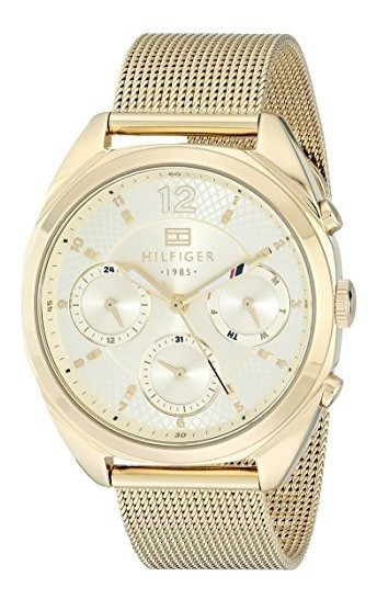 Reloj Analogico De Tono Dorado 1781488 De Tommy Hilfiger Par