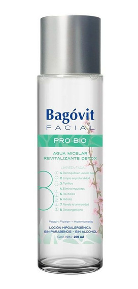 Bagóvit Facial Pro Bio Agua Micelar Detox Limpia Desmaquilla