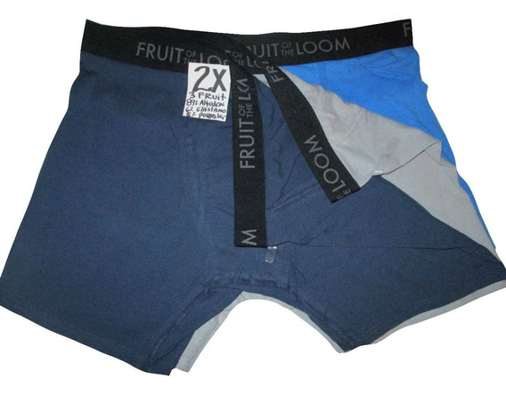 Calzones Boxer Azules Y Gris Talla 2x Breathable Fruit Of Th