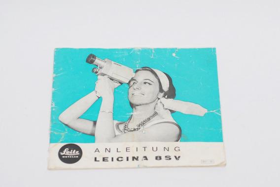 Manual Filmadora Leicina Leica 8sv C/ Lente Leicina Vario