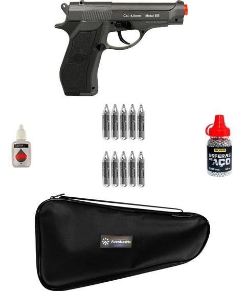 Pistola Pressão Co2 Wigun W301 4.5mm + Acessórios + 10 Co2
