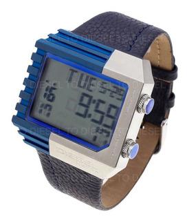 Reloj Diesel Hombre 6409 018 Digital Acero Cuero Sumergible