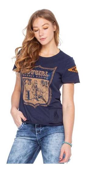 T-shirt Zenz Western Feminina Blueberry Lançamento