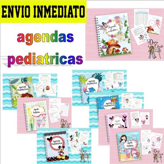Kit Imprimible Agenda Pediátrica Editable Nuevo Pack X8