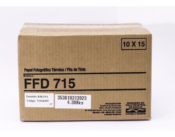 Conjunto Papel/fita Térmica Mitsubishi 715 - 800 Cp 10x15cm