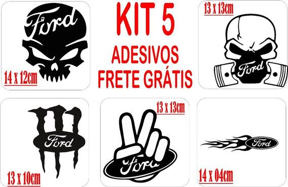 Kit 5 Adesivos Automotivo Ford Frete Grátis