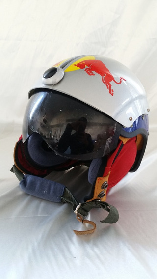 Capacete Red Bull Para Paramotor, Paratrike E Ultra-leve.
