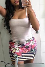 Vestido Feminino Básico Com Bojo Decote Reto Verão 2019