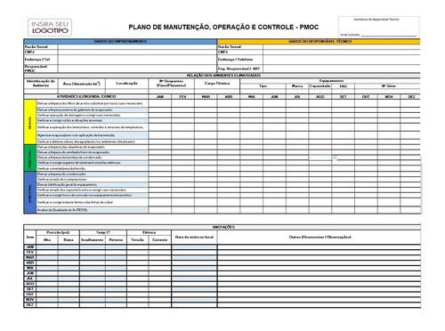 Planilha Pmoc Manutenção E Controle Ar Condicionado