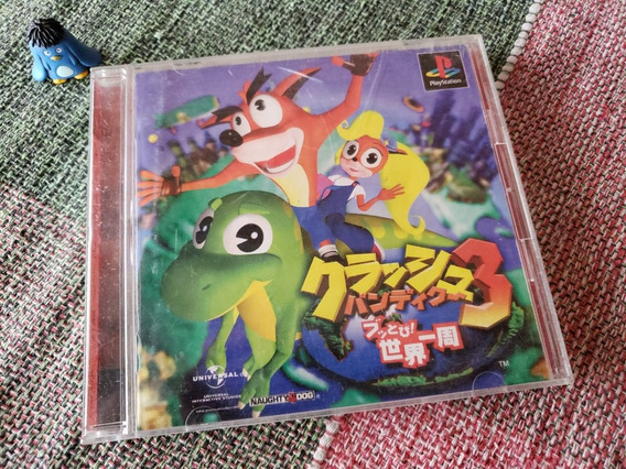 Ps1 One Crash Bandicoot 3 Warped Original Japonês A2