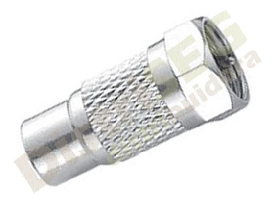 Kit C/ 5 Conector Adaptador F Macho X Rca Femea Plug Jack