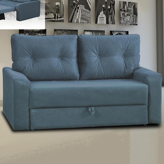 Sofá Cama 2 Lugares Hebe 00043.0373 Azul - Matrix