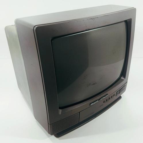 Tv Antiga Tudo Philco  Hitachi 14 Polegadas Colorida Bivolt