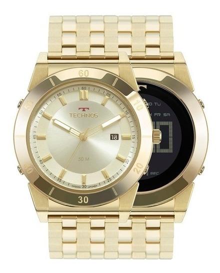 Relógio Technos Curvas Masculino Dourado 1s13cq/4x