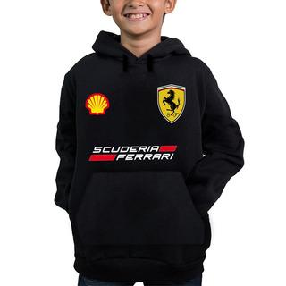 Moletom Capuz Infantil Ferrari Corrida Carros Promoção