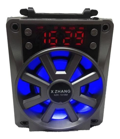 Mini Caixa De Som Bluetooth Rádio Fm Sd Auxiliar Usb 5w