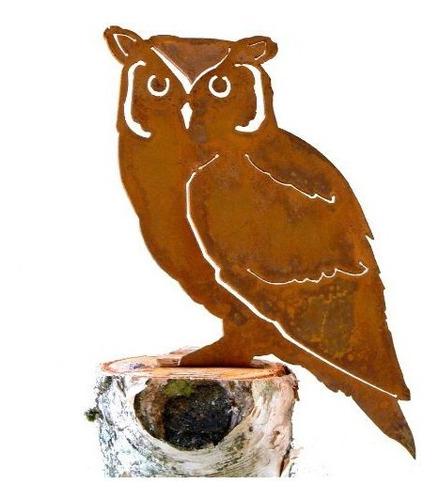 Imagen 1 de 1 de Elegante Diseño De Jardin Screech Owl Steel Silhouette Con R