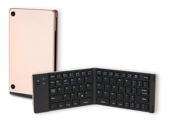 Mini Portátil Sem Fio Bluetooth Dobrável Teclado Dobrável Pa