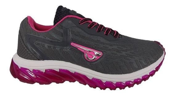 Tênis Feminino Glk Cinza/pink Promoção 010703