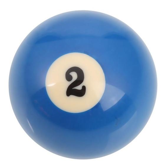 Bola De Billar Numero 2 Azul Repuesto Dm Mercado Libre