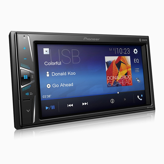 Dvd Pioneer 2 Din Mvh-g218bt Lcd 6,2 Touch Bluetooth Usb Aux