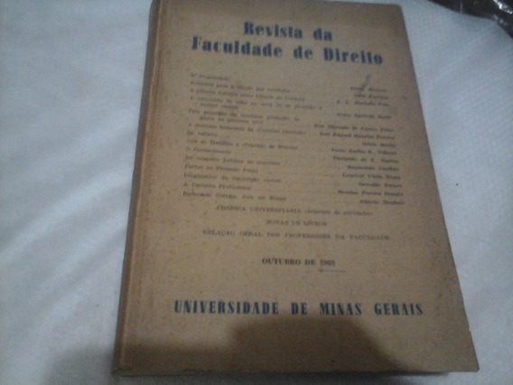 Revista De Direito Universidade De Minas Gerais 1963