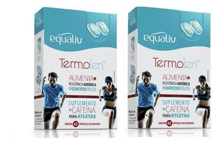 2 X Equaliv Termolen 62 Cáps Termogênico Suplemento Cafeina