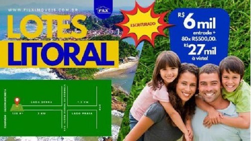 Terreno Por Apenas 6mil + Parcelas De 500,00..